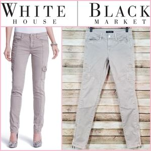 WHBM Skinny Ankle Zip Cargo Jeans